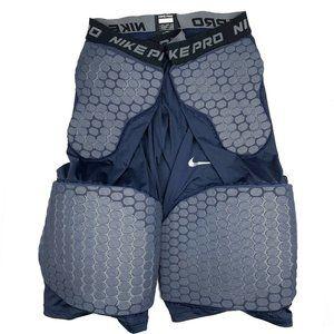 Nike Pro Navy Blue Padded Compression Legging